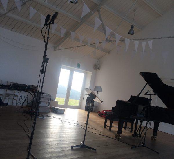 Recording at Crear, Scotland